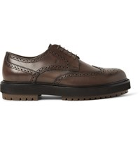 Tod's Leather Wingtip Brogues Dark Brown