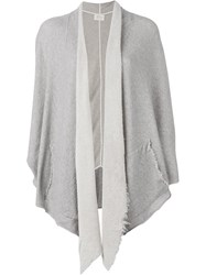 Lost And Found Ria Dunn Geometric Cardigan Grey