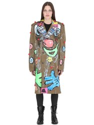 Patricia Field Art Fashion Scooter Laforge Hand Painted Jacket