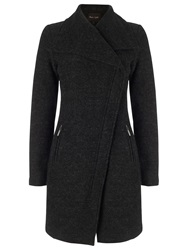 Phase Eight Zen Zip Asymmetric Coat Charcoal