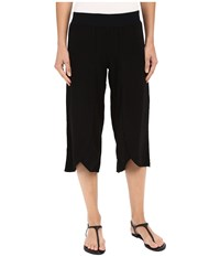 Mod O Doc Linen Rayon Crossover Culottes Black Women's Casual Pants