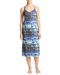 Yummie Tummie By Heather Thomson Strappy Racerback Gown Watercolor Print