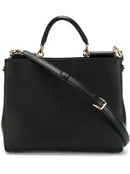 Dolce And Gabbana 'Sicily' Shopping Tote Black