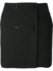 Love Moschino Button Mini Skirt Black