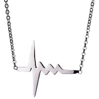 Delphine Leymarie Amour Tiny Heartbeat Necklace Silver
