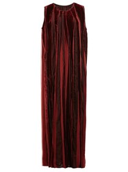 Uma Wang Velvet Maxi Dress Red