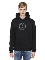 Dolce And Gabbana Hooded Bee Embroidered Sweatshirt