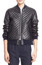 Adam By Adam Lippes Women's Adam Lippes Quilted Lambskin Leather Bomber Jacket