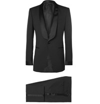 Tom Ford Black O'connor Slim Fit Satin Trimmed Super 110S Wool Tuxedo Black
