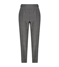 Escada Tsisa Metallic Tapered Trousers Female Grey