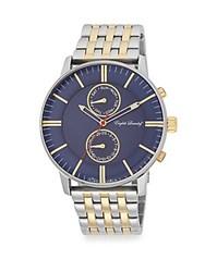 English Laundry Two Tone Stainless Steel Watch Silver Navy