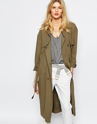 Sessun Trench Coat In Khaki Kaki