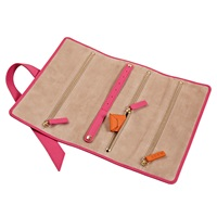 Stow Gertrude Jewellery Roll Pink Pink Purple