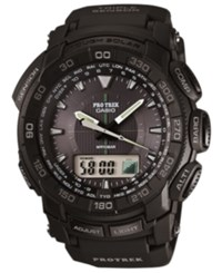 G Shock Men's Analog Digital Pro Track Black Resin Bracelet Watch 57X49mm Prg550 1A1