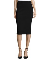 Donna Karan Crepe Pull On Pencil Skirt Black