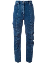 Y Project Cropped Jeans Blue