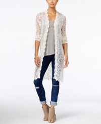 American Rag Crocheted Duster Cardigan Only At Macy's Cream