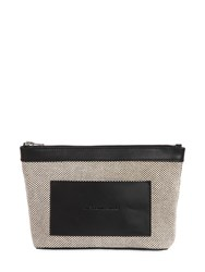 Alexander Wang Aw Canvas W Leather Trim Cosmetic Bag