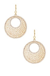 Kenneth Jay Lane Circle Filagree Earrings Metallic