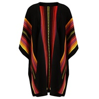 Alice By Temperley Somerset By Alice Temperley Mexican Poncho Black Red