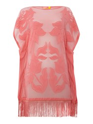 Lipsy Tassel Cover Up Coral