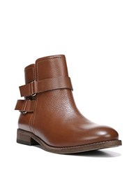 Franco Sarto Harwick Leather Ankle Boots Cognac