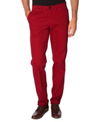 New Man Pharman Ruby Red Trousers