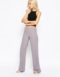 French Connection Emmeline Crepe Flared Trouser Grey