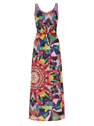 Yumi Kaleidoscope Maxi Dress Multi Coloured