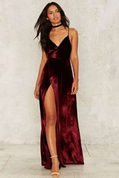 The Jetset Diaries Callie Velvet Maxi Dress Red