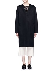 Ms Min Oversized Double Faced Wool Cashmere Coat Black