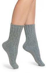 Peony And Moss Women's Marled Cable Crew Socks