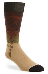 Men's Hook Albert 'Leaves' Socks Brown