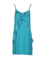 Twin Set Simona Barbieri Dresses Short Dresses Women Turquoise