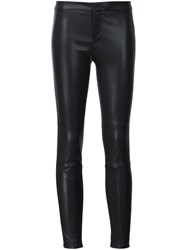 Yigal Azrouel Leather Skinny Trousers Black