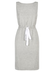 People Tree Alison Embroidered Dress Grey
