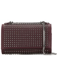 Orciani Studded Crossbody Bag Red