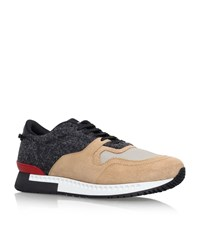 Givenchy Flannel Suede Runner Sneakers Male Beige