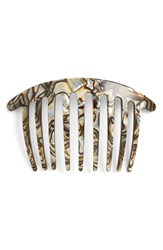France Luxe Handcrafted French Twist Comb Beige Onyx