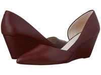 Kenneth Cole Ellis Maroon Women's Wedge Shoes Red