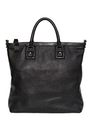 Dolce And Gabbana Zipped Grained Leather Shopping Bag