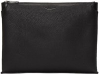Rag And Bone Black Leather Medium Pouch
