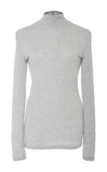 Isa Arfen Ribbed Jersey Base Top Light Grey