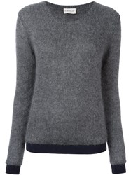 Moncler Knitted Sweater Grey