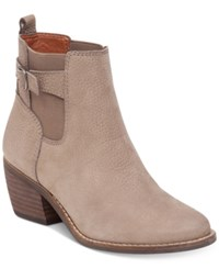 Lucky Brand Women's Khoraa Block Heel Booties Women's Shoes Brindle