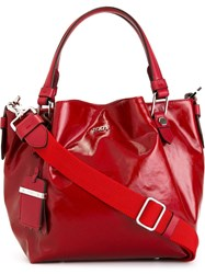 Tod's Small 'Flower' Tote Red