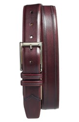 Men's Big And Tall Mezlan Leather Belt Grape