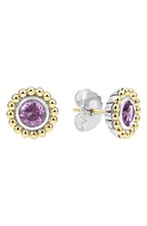 Women's Lagos Stone Stud Earrings Amethyst