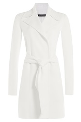 Ralph Lauren Black Label Belted Wool Coat White