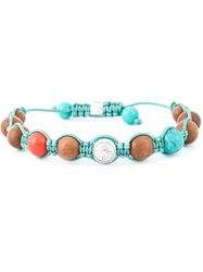 Shamballa Jewels Coral Diamond Beaded Bracelet Multicolour